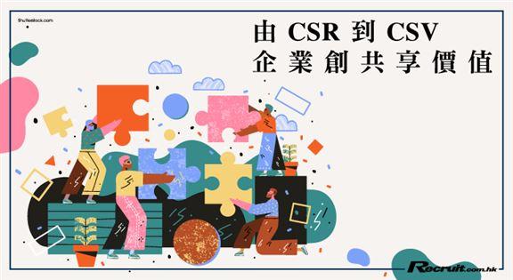 由「CSR」到「CSV」 企業創共享價值