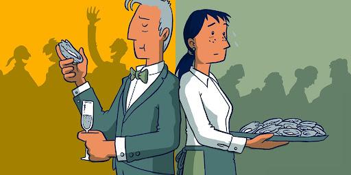 紐西蘭漫畫家Toby Morris關於貧富懸殊的漫畫